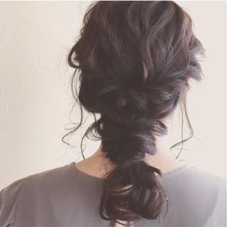 バレンタイン アンニュイ ヘアアレンジ ロング ヘアスタイルや髪型の写真・画像