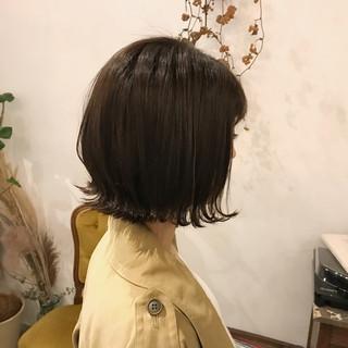 透明感カラー 毛束感 ミニボブ 外ハネボブ ヘアスタイルや髪型の写真・画像