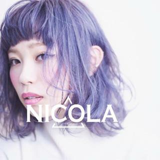 前髪あり グラデーションカラー ゆるふわ 外国人風 ヘアスタイルや髪型の写真・画像