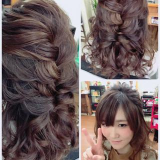 結婚式 ロング ナチュラル デート ヘアスタイルや髪型の写真・画像