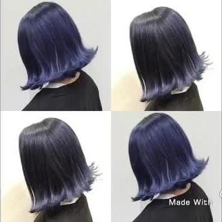 ミディアム グラデーションカラー 結婚式 ストリート ヘアスタイルや髪型の写真・画像