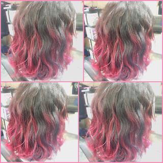 外国人風 簡単ヘアアレンジ グラデーションカラー フェミニン ヘアスタイルや髪型の写真・画像