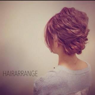愛され 簡単ヘアアレンジ ヘアアレンジ ショート ヘアスタイルや髪型の写真・画像