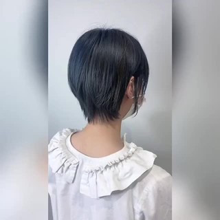 ショート モード ウルフカット ショートボブ ヘアスタイルや髪型の写真・画像