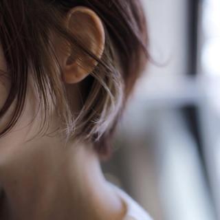 ウェットヘア ストリート ショート インナーカラー ヘアスタイルや髪型の写真・画像