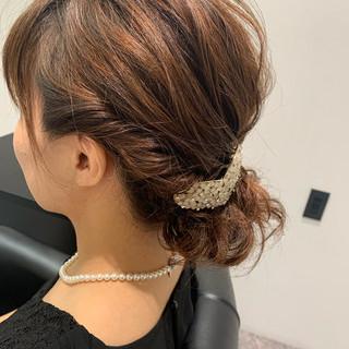 ヘアセット 結婚式 簡単ヘアアレンジ ナチュラル ヘアスタイルや髪型の写真・画像