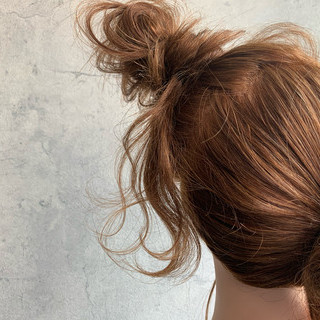 お団子ヘア お団子アレンジ お団子 結婚式ヘアアレンジ ヘアスタイルや髪型の写真・画像