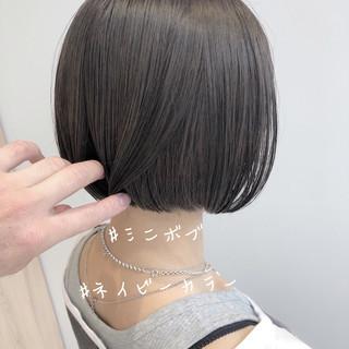 ボブ ベリーショート ミニボブ オフィス ヘアスタイルや髪型の写真・画像