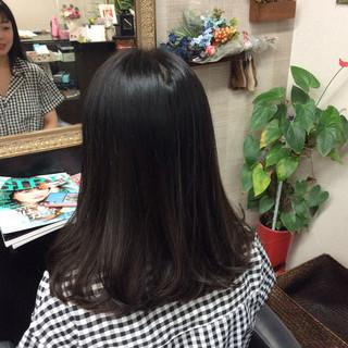 ナチュラル セミロング ダブルカラー グラデーションカラー ヘアスタイルや髪型の写真・画像