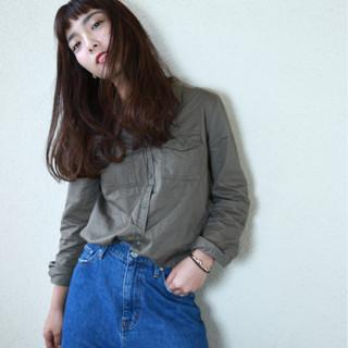 上品 エレガント 斜め前髪 ロング ヘアスタイルや髪型の写真・画像 ヘアスタイルや髪型の写真・画像