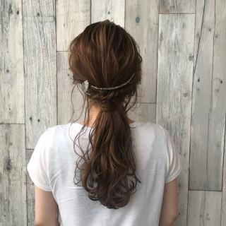 ナチュラル 色気 涼しげ 夏 ヘアスタイルや髪型の写真・画像