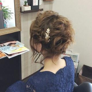 エレガント 結婚式 ミディアム 上品 ヘアスタイルや髪型の写真・画像