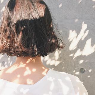 ウェーブ ボブ パーマ アンニュイ ヘアスタイルや髪型の写真・画像 ヘアスタイルや髪型の写真・画像