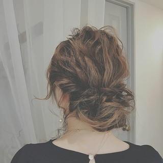 ゆるふわ ロング ヘアアレンジ フェミニン ヘアスタイルや髪型の写真・画像 ヘアスタイルや髪型の写真・画像