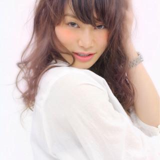 ガーリー ピュア グラデーションカラー ゆるふわ ヘアスタイルや髪型の写真・画像