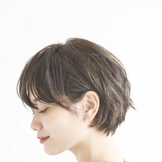 アンニュイほつれヘア ショートボブ デート パーマ ヘアスタイルや髪型の写真・画像