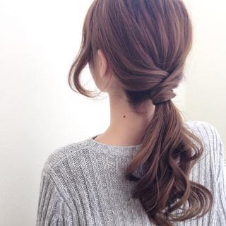 一つ結びは前髪ありがかわいい。王道アレンジに挑戦してみよう
