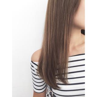暗髪 イルミナカラー アッシュ 外国人風 ヘアスタイルや髪型の写真・画像