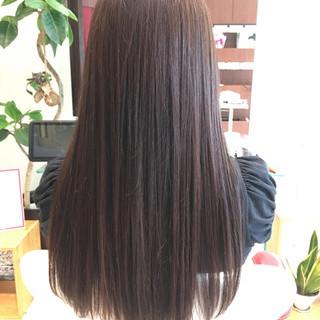 艶髪 ストレート ブラウン ロング ヘアスタイルや髪型の写真・画像