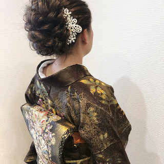 和装ヘア アップ フェミニン 着物 ヘアスタイルや髪型の写真・画像