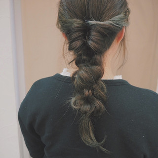 簡単ヘアアレンジ ナチュラル 編み込み ヘアアレンジ ヘアスタイルや髪型の写真・画像