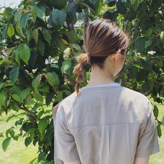 簡単ヘアアレンジ ヘアアレンジ ポニーテールアレンジ セルフヘアアレンジ ヘアスタイルや髪型の写真・画像
