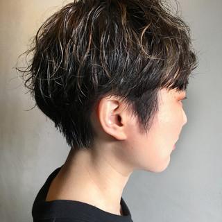 ショートパーマ ショートヘア ショート マッシュヘア ヘアスタイルや髪型の写真・画像