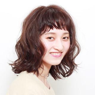 女子力 ウェーブ ミディアム 大人女子 ヘアスタイルや髪型の写真・画像