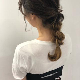 アンニュイほつれヘア ヘアアレンジ 成人式 デート ヘアスタイルや髪型の写真・画像