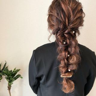 ロング 成人式 結婚式 フェミニン ヘアスタイルや髪型の写真・画像