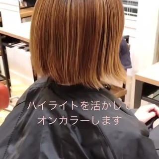 ヘアカラー 透明感カラー ボブ ナチュラル ヘアスタイルや髪型の写真・画像