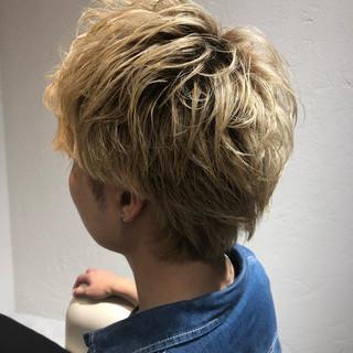 メンズ ショート メンズスタイル ハイトーン ヘアスタイルや髪型の写真・画像
