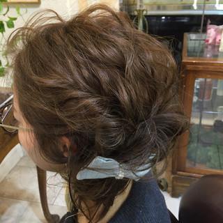 ナチュラル フェミニン ショート ヘアアレンジ ヘアスタイルや髪型の写真・画像 ヘアスタイルや髪型の写真・画像