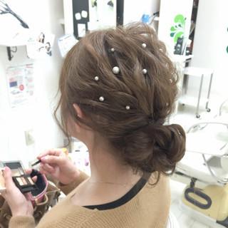 ヘアアレンジ 編み込み ロング 大人かわいい ヘアスタイルや髪型の写真・画像