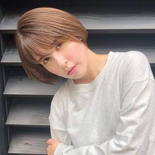 ボブ ミニボブ 大人女子 ショートボブ ヘアスタイルや髪型の写真・画像