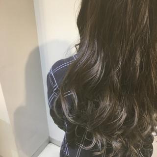 オフィス ロング エレガント 韓国 ヘアスタイルや髪型の写真・画像