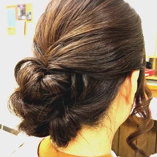 大人女子 簡単ヘアアレンジ セミロング 大人かわいい ヘアスタイルや髪型の写真・画像