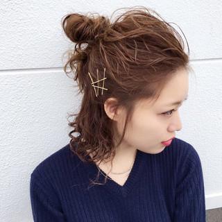 ミディアム ヘアアレンジ ショート アッシュ ヘアスタイルや髪型の写真・画像