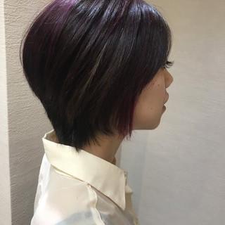 ブリーチ ハイライト ラベンダーピンク 束感 ヘアスタイルや髪型の写真・画像