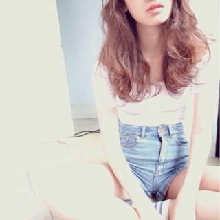 愛され ベージュ 透明感 ナチュラル ヘアスタイルや髪型の写真・画像