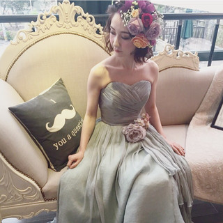 ガーリー ナチュラル 結婚式 大人かわいい ヘアスタイルや髪型の写真・画像