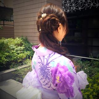 お祭り 花火大会 ヘアアレンジ 夏 ヘアスタイルや髪型の写真・画像