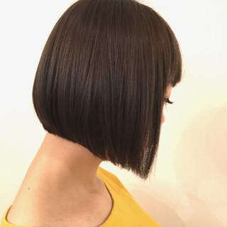 ストレート ナチュラル 透明感 秋 ヘアスタイルや髪型の写真・画像
