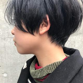 モード ナチュラル ショート リラックス ヘアスタイルや髪型の写真・画像