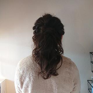 ポニーテール ヘアアレンジ 上品 エレガント ヘアスタイルや髪型の写真・画像 ヘアスタイルや髪型の写真・画像