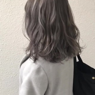 モード ハイトーン 外国人風カラー 外国人風 ヘアスタイルや髪型の写真・画像