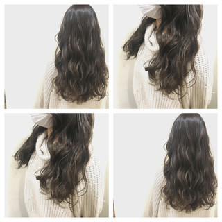 セミロング 外国人風カラー アッシュ グレージュ ヘアスタイルや髪型の写真・画像