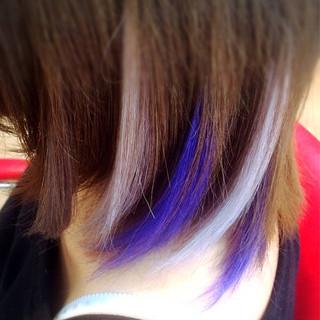 ウルフカット メッシュ 個性的 ショート ヘアスタイルや髪型の写真・画像