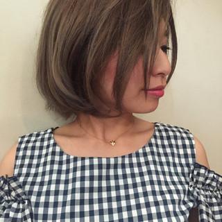 透明感 ハイライト ショート 外国人風カラー ヘアスタイルや髪型の写真・画像