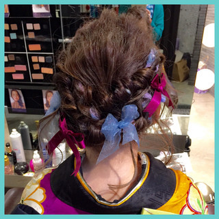 ショート 夏 フェミニン 簡単ヘアアレンジ ヘアスタイルや髪型の写真・画像